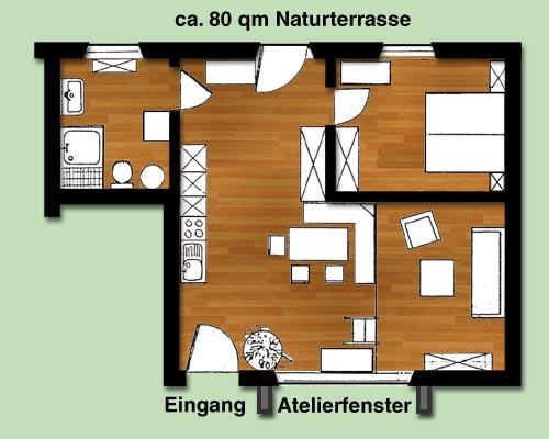 atelierwohnung landhaus malerwinkel am walchensee. Black Bedroom Furniture Sets. Home Design Ideas